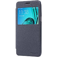 Кожаный чехол (книжка) Nillkin Sparkle Series для Samsung J510F Galaxy J5 (2016) Черный