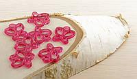 Подвеска бабочка розовая 30х25мм (товар при заказе от 200 грн)