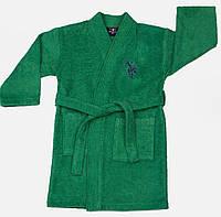 Детский махровый халат 7-8 лет U.S. Polo Assn USPA KOYU YESIL