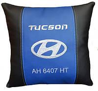 Сувенирная подушка в авто с эмблемой Hyundai хюндай