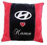 Сувенірна подушка у авто з емблемою Hyundai хюндай, фото 2