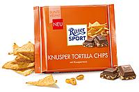 Шоколад Ritter Sport Knusper tortilla chips 100 г. Германия!