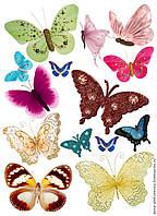Бабочки ассорти  Вафельная картинка