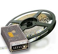 Комплект из: Led лента 4,8W негерметичная smd2835 Еко(10 м.) + блок питания 60W PS-60-12E белый свет