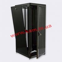"""Шкаф 19"""" 42U, 800х1055 мм (Ш*Г), усиленный, перфорированные двери (66%),черный(UA-M (UA-MGSE42810PB)"""