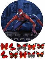 Вафельная картинка Человек паук 2