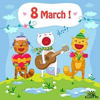 8 марта 6 Вафельная картинка