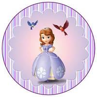 Вафельная картинка для тортов Принцесса София 16