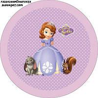 Вафельная картинка для тортов Принцесса София 17