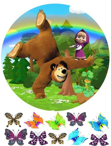 Вафельная картинка Маша и Медведь 6
