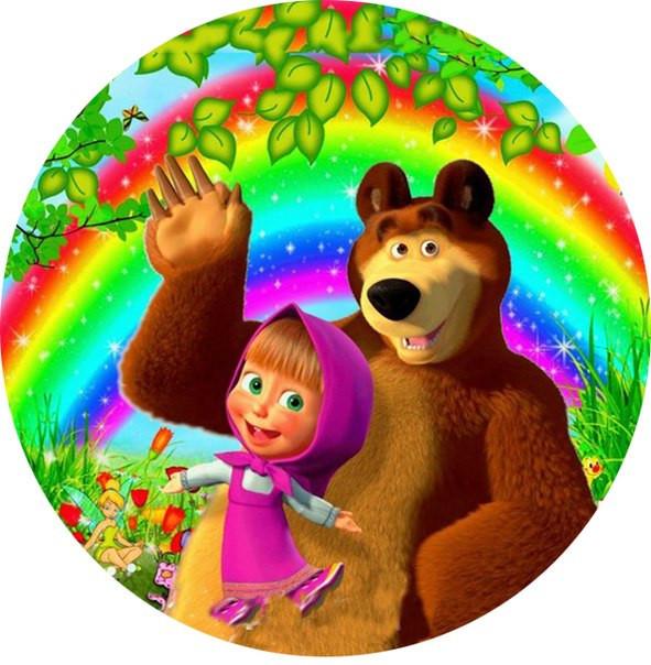 Вафельная картинка Маша и Медведь 14