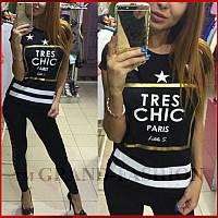 Футболка ~TRES CHIC Париж~ цвет чёрный, фото 1