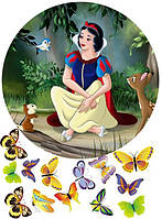 Принцессы 361  Вафельная картинка