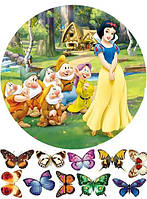Принцессы 38  Вафельная картинка