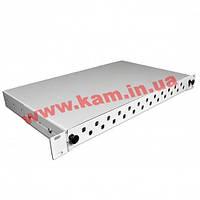 Патч-панель 24 порта ST/ FC, пуста, 1U, каб.вводи для 6xPG13.5+6xPG16, серая (UA-FOPE24ST-G)