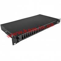 Патч-панель 48 портів під 24 адаптери SC Duplex/ LC Quad, пуста,1U, каб.вводи для 6 (UA-FOPE24SCD-B)