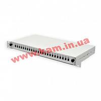 Патч-панель 24 порти SC-Simpl./ LC-Dupl./ E2000, пуста, каб.вводи для 2xPG13.5+2xPG1 (UA-FOP24SCS-G)