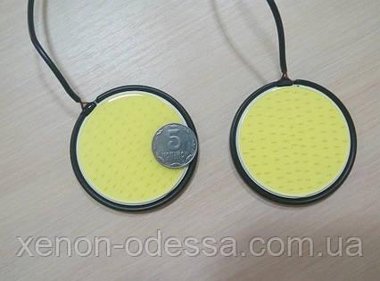 Круглые блины LED COB DRL 83 мм, фото 2