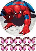 Вафельная картинка Человек паук 3
