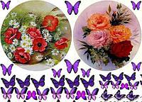 Цветы 3 Вафельная картинка