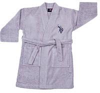 Детский махровый халат 9-10 лет U.S. Polo Assn USPA GRI