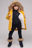 Зимнее пальто для девочки  X-Woyz! DT-8236