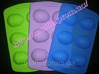 Форма силиконовая Пасхальные яйца маленькие планшет 6 шт, фото 1