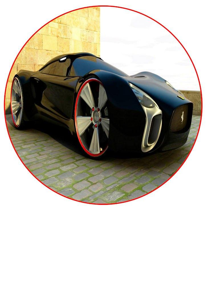 Машина 17 вафельная картинка