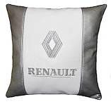Подушка подарок автомобильная в машину с логотипом Renault рено, фото 2