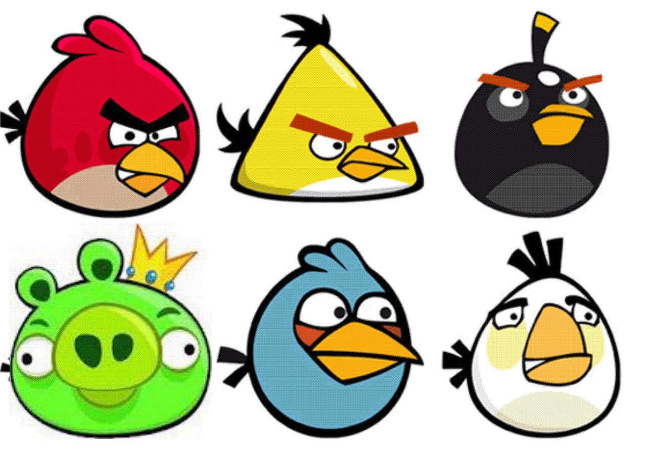 Angry Birds 6 Вафельная картинка