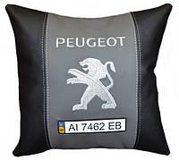 Подушка автомобильная сувенирная с логотипом пежо Peugeot