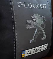 Подушка с вышивкой автомобильная с логотипом пежо Peugeot