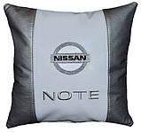 Подушка автомобильная с вышивкой логотипа Nissan ниссан, фото 2