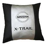 Подушка автомобильная с вышивкой логотипа Nissan ниссан, фото 4