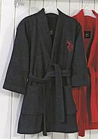 Детский махровый халат 9-10 лет U.S. Polo Assn USPA MOR-LACIVERT