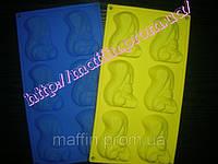Форма силиконовая Белочки планшет 6 шт