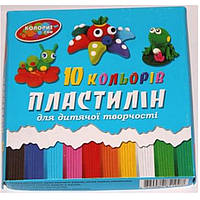 "Пластилин детский Люкс колор 10цветов 210гр.""Колорит""к/у"
