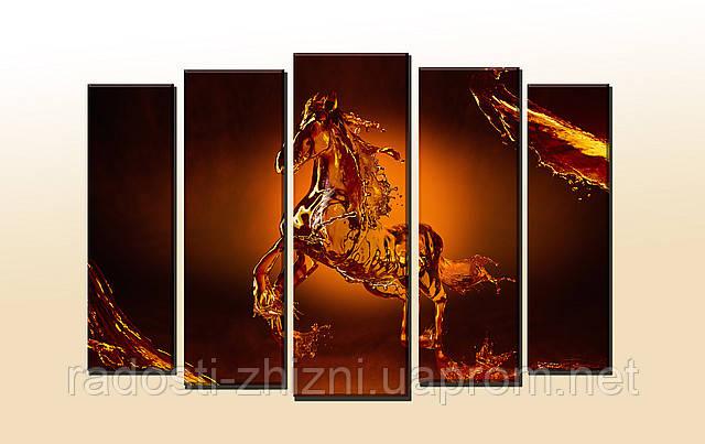 """Мультипанельная картина """"Horse"""". Картина на холсте. УФ печать."""