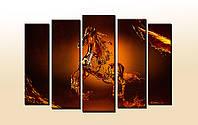 """Мультипанельная картина """"Horse"""". Картина на холсте. УФ печать. , фото 1"""