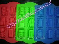 Форма силиконовая Паровозики планшет 9 шт