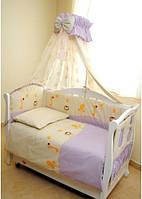 Детское постельноеTwins Comfort Африка С-003, африка/фиолет.(8 элементов)