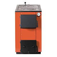 Котел твердотопливный MaxiTerm 20П (20 кВт, 180 м.кв., стенка 3 мм, чугунная плита, косая загрузка)