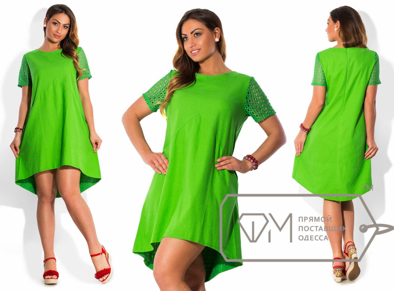 Ассиметричное платье большого размера