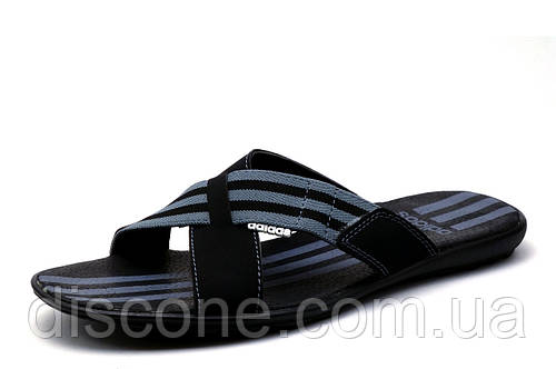 Шлепанцы Adidas, черные., мужские