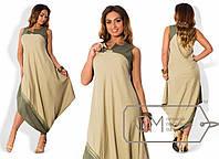 Красивое ассиметричное свободное платье в больших размерах (в расцветках) i-1515584