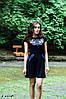Плаття Лісова пісня сіро-голуба – короткий рукав