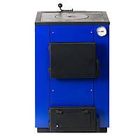 Котел твердотопливный MaxiTerm 12ПБ (12 кВт, 100 м.кв., стенка 3 мм, чугунные плита и колосники)