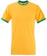 Футболка хлопковая - 61-168-AM солнечно-желтая