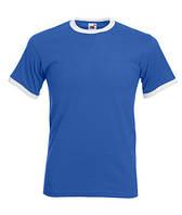 Футболка хлопковая - 61-168-KB ярко-синяя