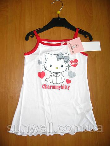 Дитяча літня нічна сорочка для дівчинки Кітті, Charmmykitty Sun City, 3, 4 роки, фото 2